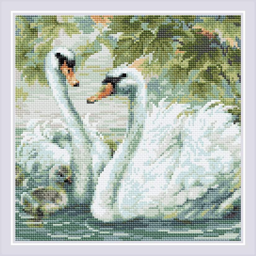 Алмазная мозаика лебеди постельное белье элина