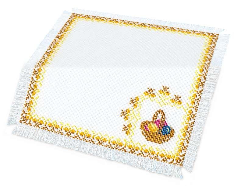 пасхальное украшение вышитая салфетка Пасхальная