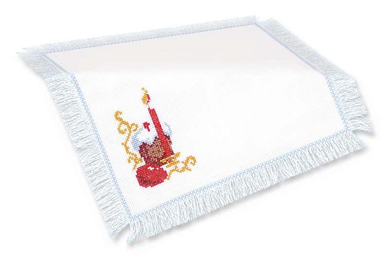 вышитая салфетка Пасхальный набор
